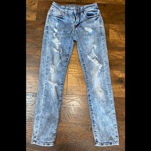 American Eagle Distressed Skinny Jeans sz 26 x 28